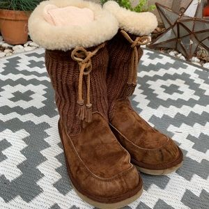UGG Boots With Knit Detail